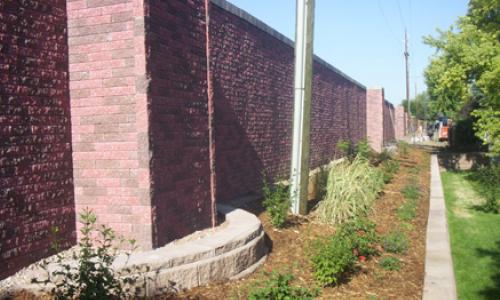 Mortarless brick wall colonial red