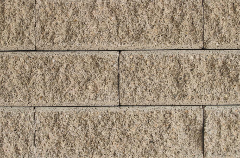 Mechanically Fastened Bricks in Light Cream