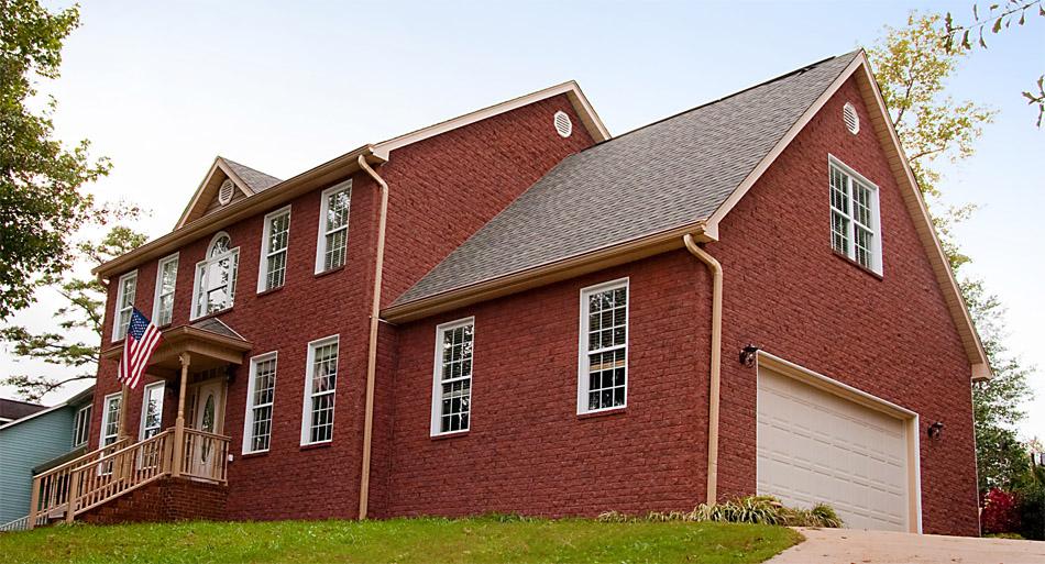 Novabrik Mortarless Brick Veneer on House